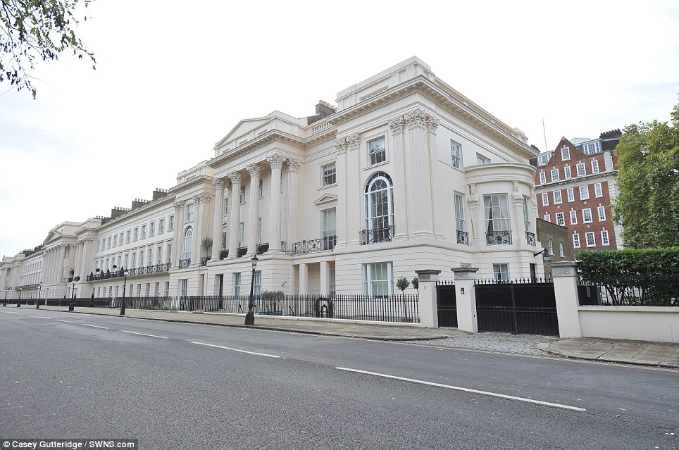 Royal connection: Work on the imposing neoclassical front was supervised by John Nash, who designed Buckingham Palace. Everyone from royals, diplomats, celebrities and squatters have since wandered around the Grade I listed mansion