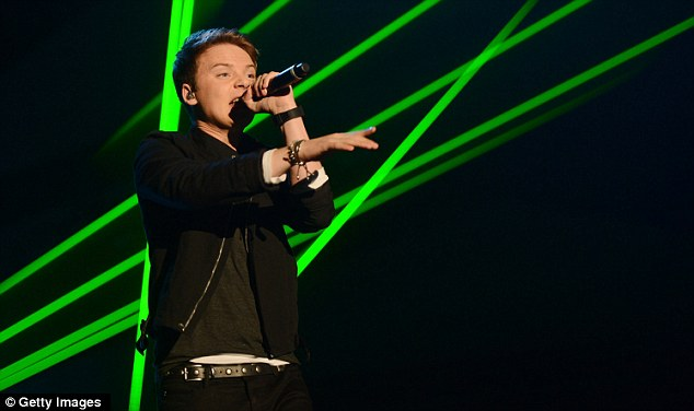 For the young ones: 19-year-old Conor Maynard also wowed the crowd with his set