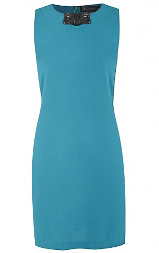 Turquoise dress with black bow-tie: £38