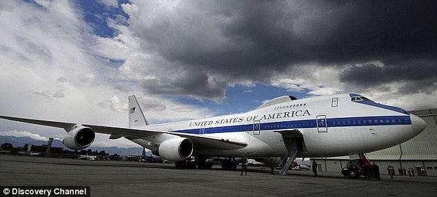 Doomsday plan: The federal government's Doomsday plane is set apart from other Boeing 747's by its radiation-protected shell, 67 antennae and satellite dishes and loads of other high-tech gear