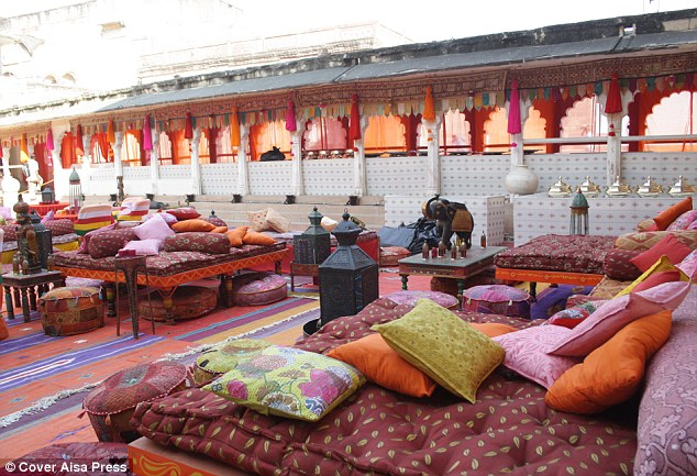 Lap of luxury: The guests will be able to explore a number of beautifully decorated rooms within the fort