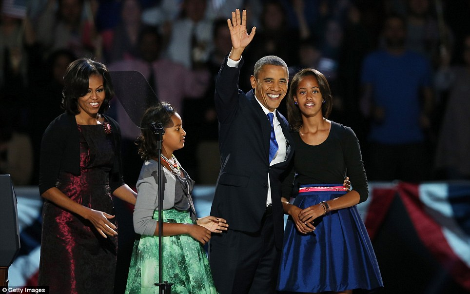 Staying put: The young First Family will stay in the White House until January 2017