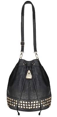 Black bag with gold studs: £45