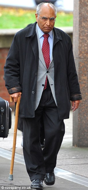 Accused: GP Gousul Islam arrives at Sheffield Crown Court facing charges of indecent assault
