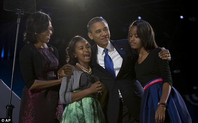 No website needed: President Obama accepted his re-election in his hometown of Chicago