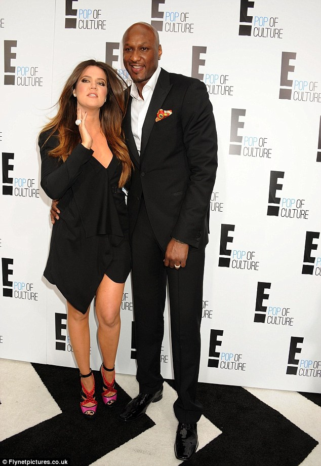 Love and basketball: Khloe and Lamar are said to be going through some marital dificulties