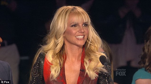 Blonde bombshell: Britney looked radiant on screen with her long locks styled to perfection