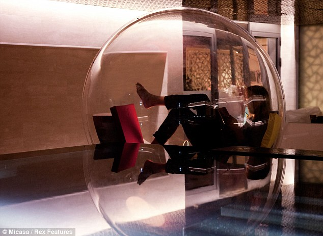 Taking time out: The Cocoon 1 can even offer a quiet place to sit and read a book indoors, regardless of what is going on around