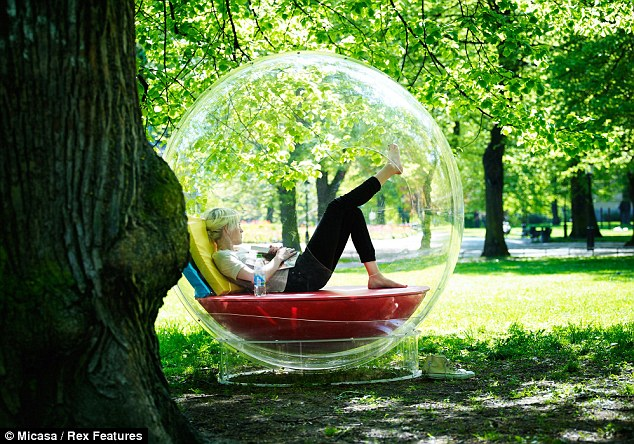 Time to yourself: The Cocoon 1 creates a space for relaxation that can be transported into any environment