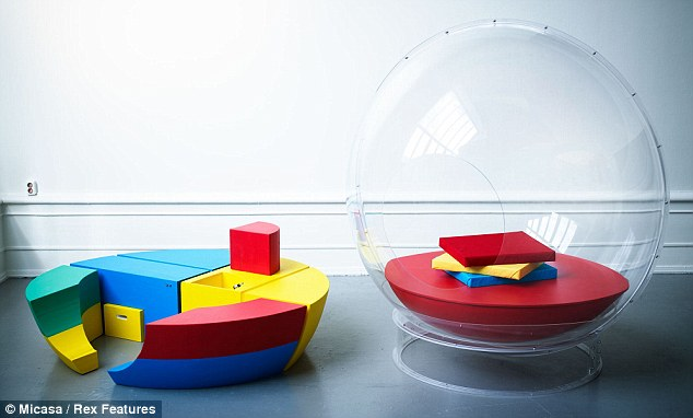 Child's play: The simple design, primary colours and building block style modules are reminiscent of children's toys