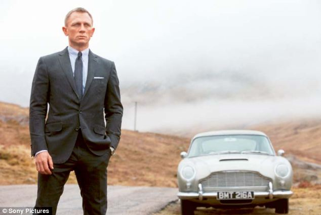 Daniel Craig with the real Aston Martin DB 5