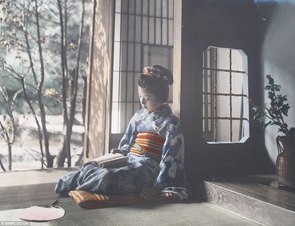 Unique insight: The rare collection of images show Japan just before its industrial revolution
