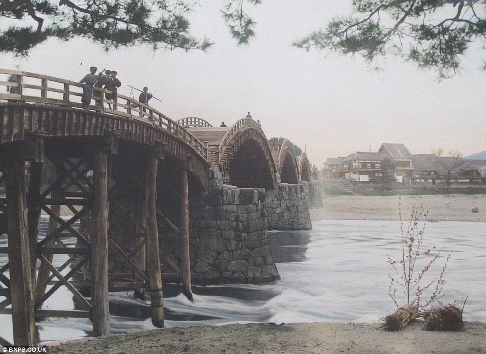 Water under the bridge: The Kintai-kyo bridge still stands today