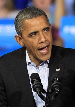 President Barack Obama speaks at a campaign event at Nationwide Arena Monday, Nov. 5, 2012, in Columbus, Ohio. (AP Photo/Tony Dejak)