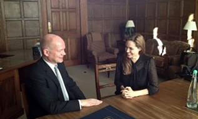 The pair looked relaxed as they spoke about Britain's plan to help those who are victim of sexual violence