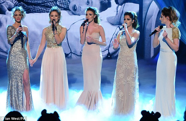 United front: Kimberley and Sarah held hands during the second performance