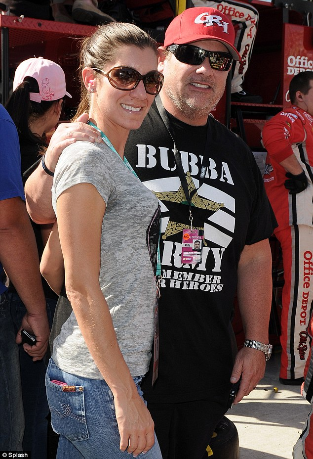 Bubba the Love Spone and his then wife Heather who allegedly appears in recent a sex tape with Hulk Hogan appear at Homestead Miami Speedway on June 11, 2010 in Homestead, Florida