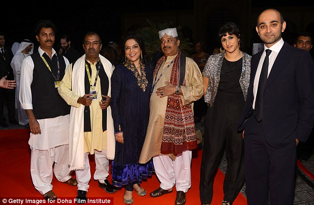 Their night: Guest, Abu Muhammad, director Mira Nair, Fariduddin Ayaz, screenwriter Ami Boghani and novellist Mohsin Hamid attend the opening night ceremony
