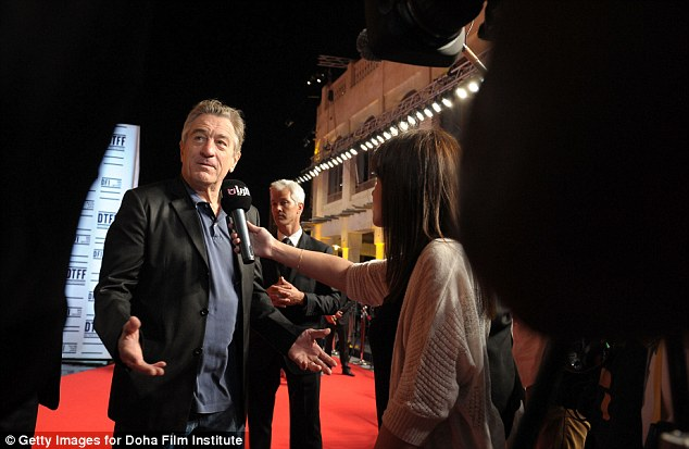 On the red carpet: Robert De Niro attends the opening night ceremony and gala screening of The Reluctant Fundamentalist during the 2012 Doha Tribeca Film Festival in Doha, Qatar