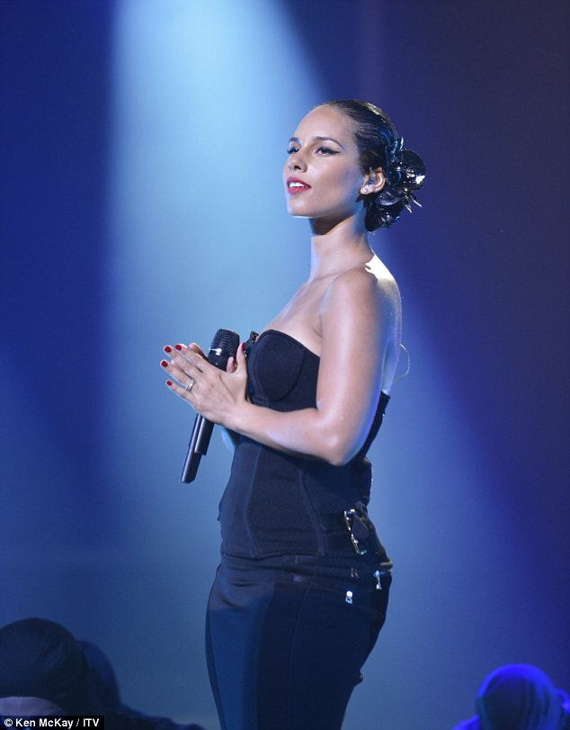 Girl on Fire: Alicia Keys performed her new single on The X Factor Result Show, the first time she had appeared on the UK talent programme