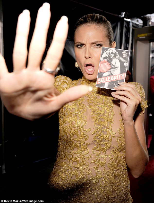 Access all areas: The supermodel joked around with the cameras backstage at the Los Angeles event