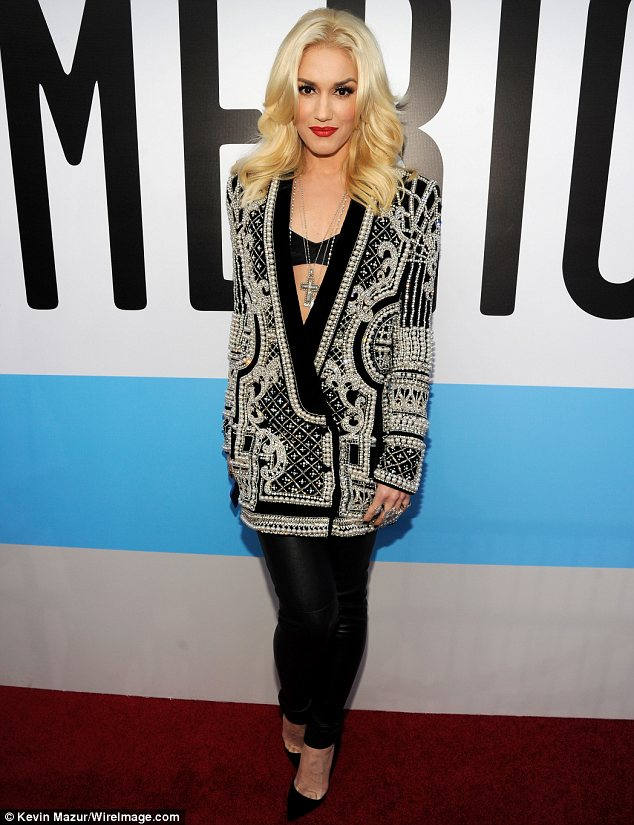 She can work anything: Gwen Stefani was very dressed down in leather trousers and an oversize jacket, but as always looked amazing
