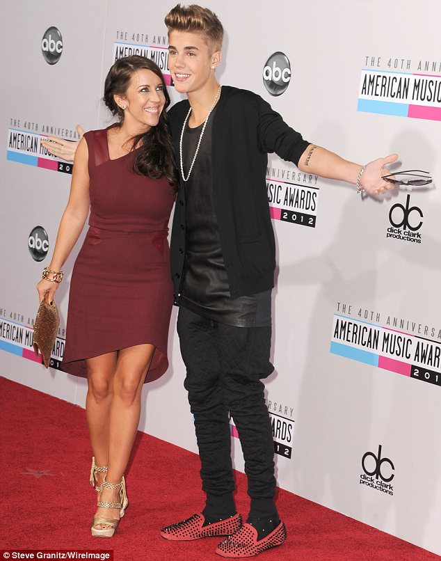 No Selena then?: Justin Bieber brought his mother Patricia along as his date to the ceremony