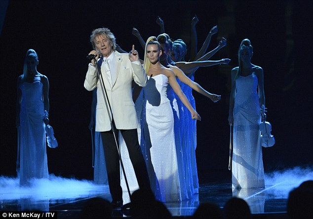 Variety is the spice of life: Rod Stewart returned to singing duties as he performed his classics
