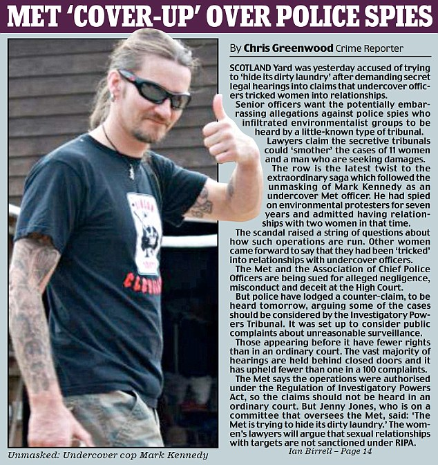 Men Cover UP Over Police Spies