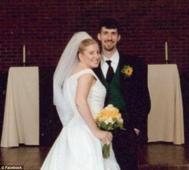 Victims: Dion and Jennifer Longworth, seen here on their wedding day, both died as they were sleeping in their home next door to the blast site