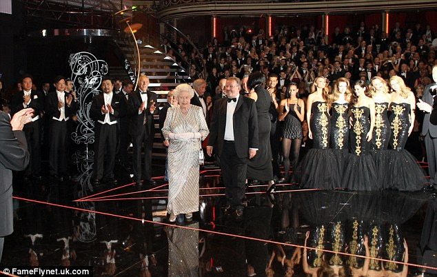 Eclectic mix: Queen Elizabeth met with all the acts who took to the stage at the 2012 Royal Variety Performance