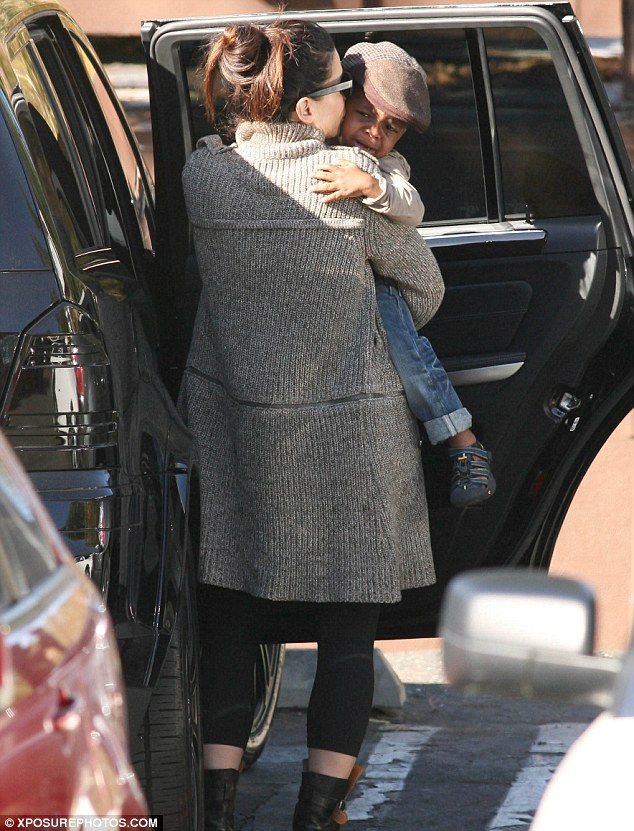 Home comforts: Sandra and Louis get into the car before returning to their house to continue their quality time together