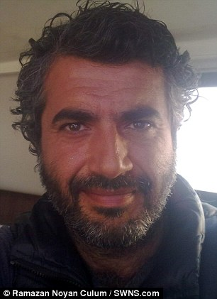 Ramazan Noyan Culum who has been arrested by UK border police after he sailed to the year to try and find a British woman he had become obsessed with