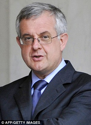 In line of fire: Several of Sarkozy's advisers, including his Chief of Staff Xavier Musca (pictured) were allegedly targeted in May