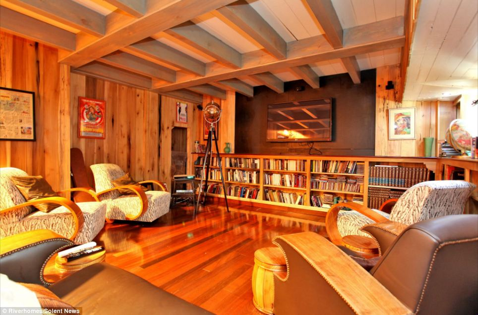 Luxury Six Bedroom Houseboat Made With Wood Recovered From