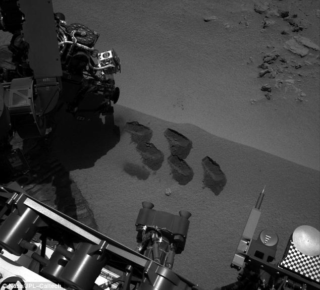 Taking bites of Mars: The discovery was made off one of five samples of Martian soil taken earlier this month, one of which was analysed by the Curiosity rover's SAM instrument