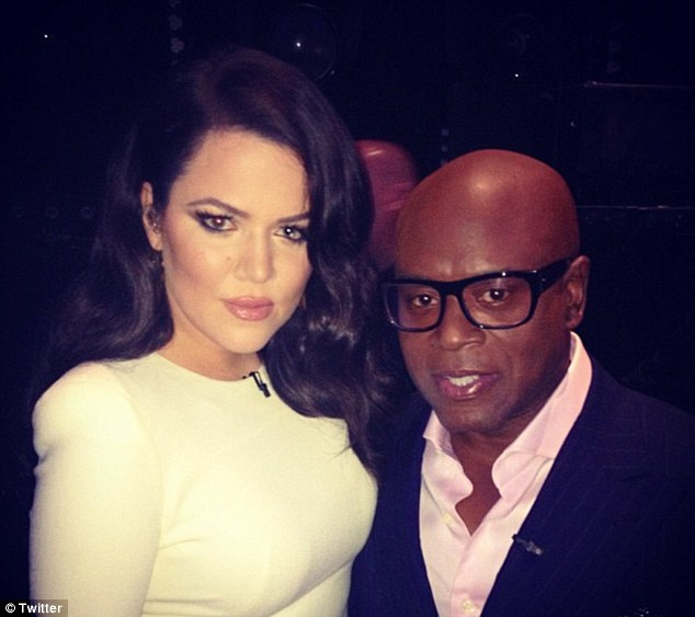 Next stop L.A.: Khloe also sat on L.A. Reid's lap backstage
