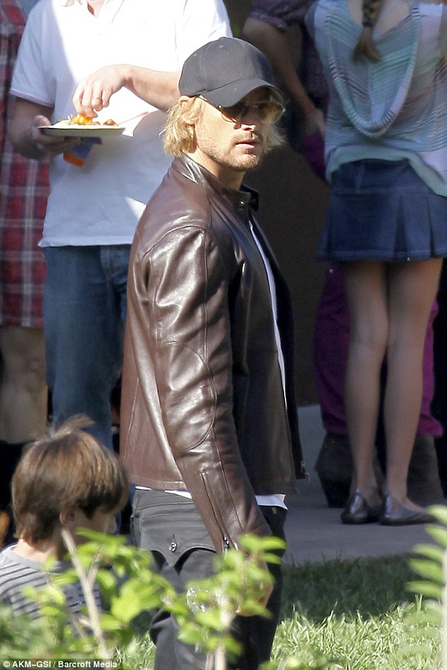 Not so happy families: Gabriel Aubry was at the same party as Halle on Wednesday