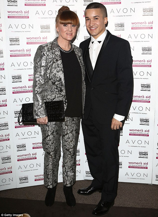 Empowered: X Factor singer Jahmene Douglas and his mother Mandy Thomas at the Empowering Women Awards at Claridge's Hotel in London