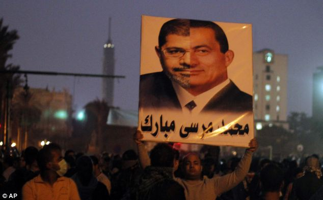 Many anti-Morsi campaigners believe the president is similar to former president Hosni Mubarak