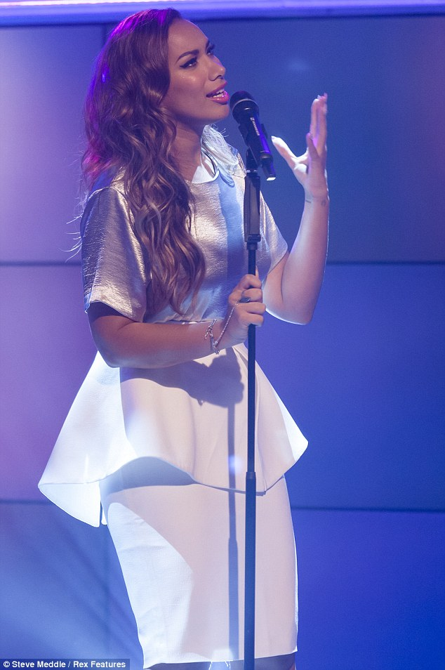 Singing her heart out: Leona Lewis' hair was in loose curls on Daybreak