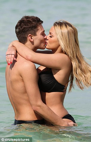 Mr and Mrs Essex: The couple looked more loved-up than ever as they kissed and cuddled for all to see