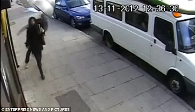 Thug: Ayoade lashed out at Tasneem Kabir in broad daylight as she walked alone in east London