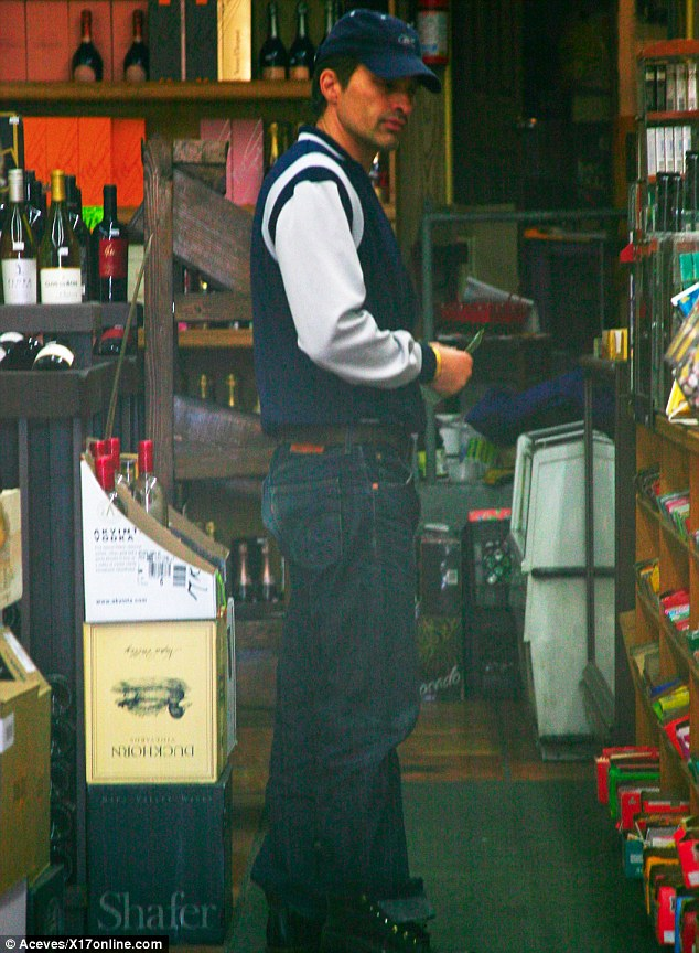 Up bright and early: Olivier Martinez was spotted early on Friday morning visiting a liquor store in Los Angeles