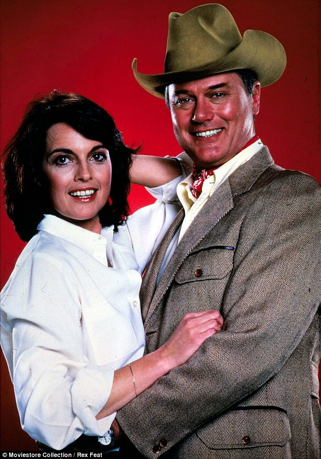 Iconic: Hagman, seen with Linda Gray in 1978, played cunning JR from 1978-1991 before reprising his role this year