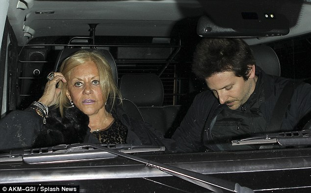 Close: Bradley is very close to his mother Gloria, pictured here with the actor in February this year