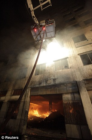Scene: Over 100 people were injured as a fire broke out at Tazreen Fashions Limited