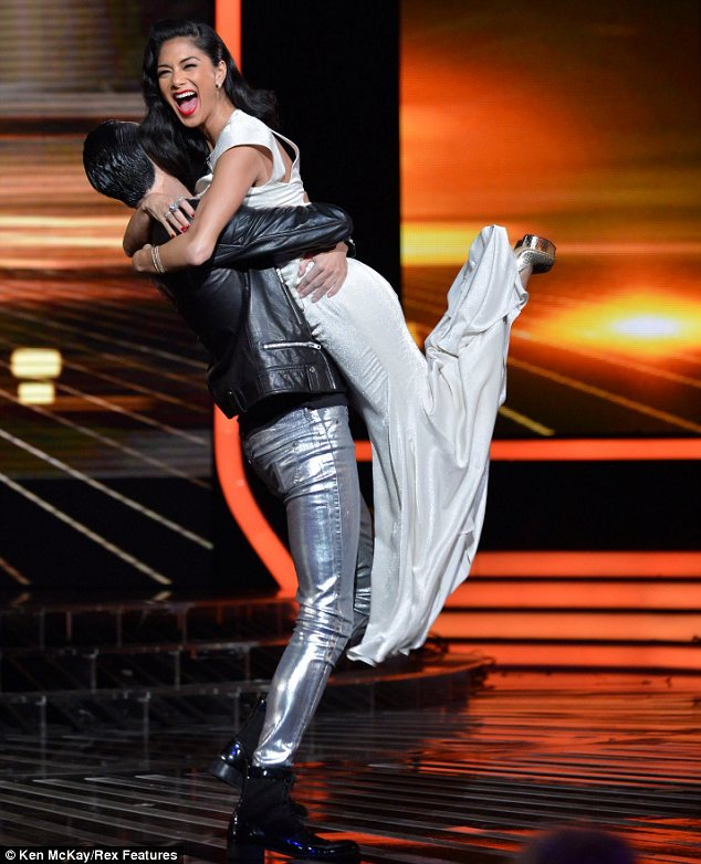 One last time: Rylan was seen hoisting Nicole into the air and he thanked her for picking him to be part of the live shows