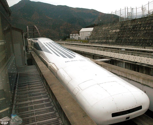 Mark 1: A test model maglev train from 2003. Officials claim the high-tech mass transit system is the future of travel
