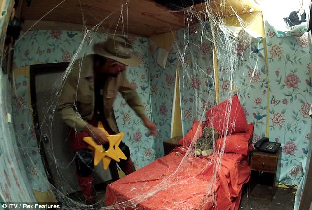 Stuck in a spiderweb: The third room contained all sorts of tarantulas and creepy crawlies